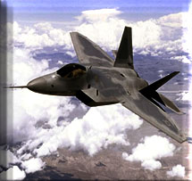 F-22 Air-Superiority Fighter Aircraft --- Image by © Royalty-Free/Corbis